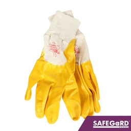 Nitrile Knitwrist Palm Coated Gloves - Safegard